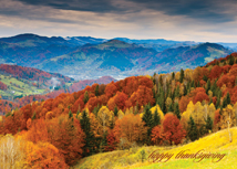 Glorious View! Mountain Top Thanksgiving Card
